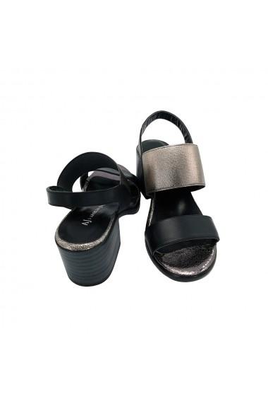 Sandale piele naturala Torino 52-D1 negru