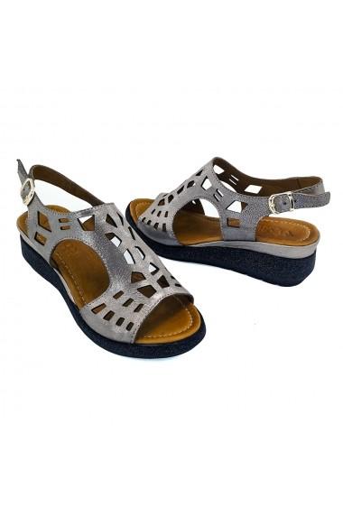 Sandale piele naturala Torino 5182 Argintiu
