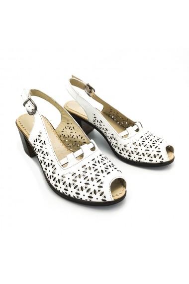 Sandale piele naturala Torino 9038 albe
