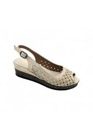 Sandale cu platforma piele naturala Torino 71-713 bej sidef