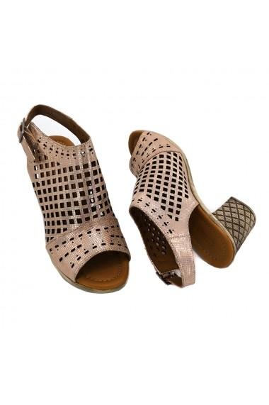 Sandale piele naturala Torino 791-75 roz sidef