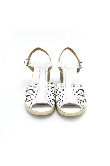 Sandale piele naturala Torino 400-07 albe