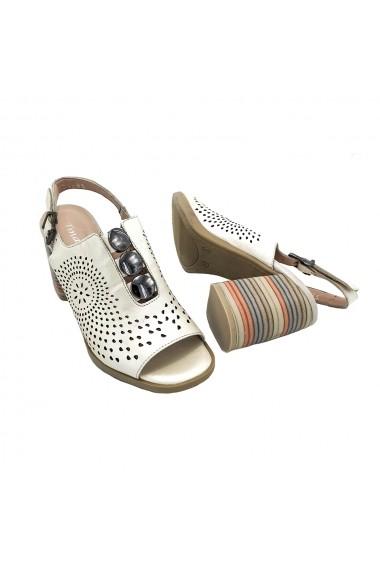 Sandale piele naturala Torino 964-85 crem sidef
