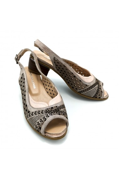 Sandale piele naturala Torino 70 Argintiu