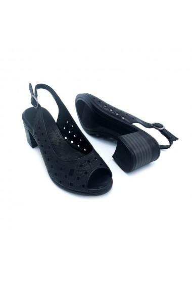 Sandale piele naturala Torino 1 negru