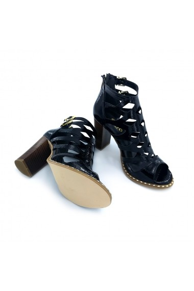 Sandale piele ecologica Torino 2014 negre lac