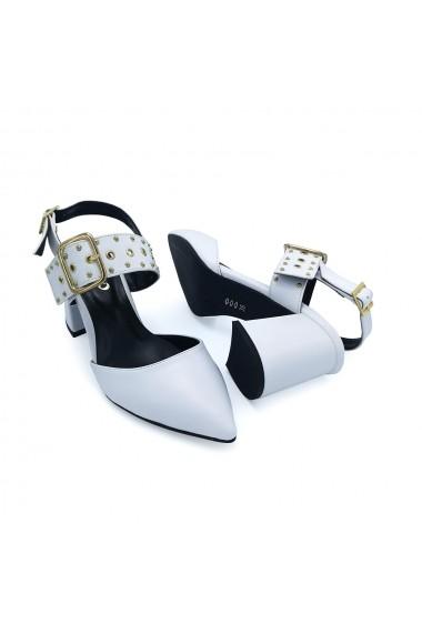 Sandale piele ecologica Torino 119-13 albe