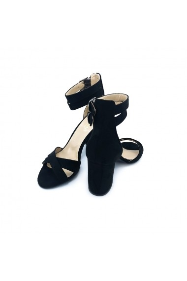 Sandale piele ecologica Torino 1317 negre