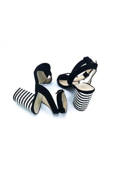 Sandale piele ecologica Torino 310 negre