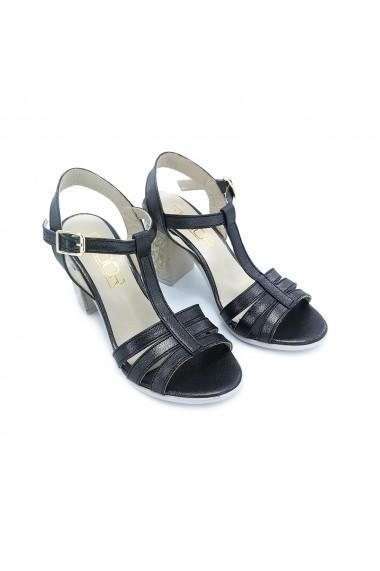 Sandale piele ecologica Torino 1015 negru sidef