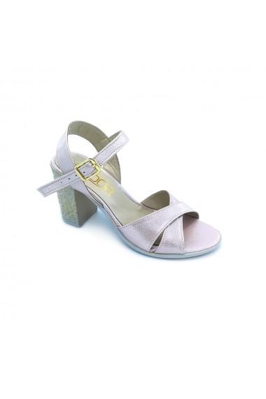 Sandale piele ecologica Torino 1017 roz sidef