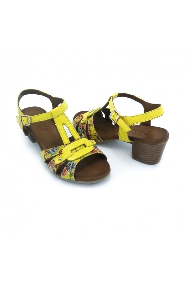 Sandale piele naturala Torino 106 galbene