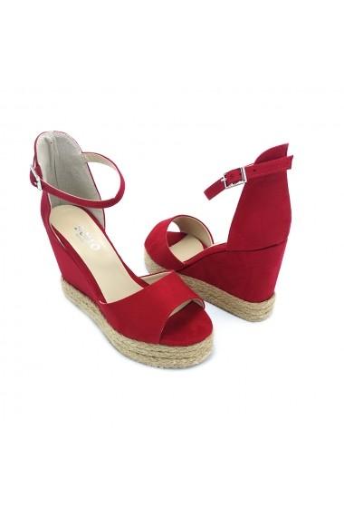Sandale cu platforma Torino 02 rosii