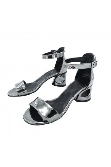 Sandale cu toc Torino T-010 Argintii