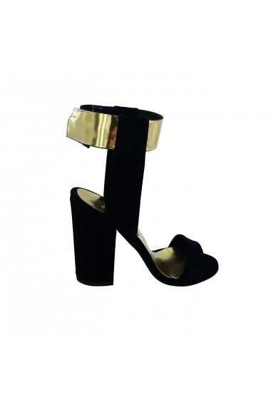 Sandale cu toc Torino T-013 Negre