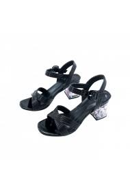 Sandale cu toc Torino T-020 Negru lac