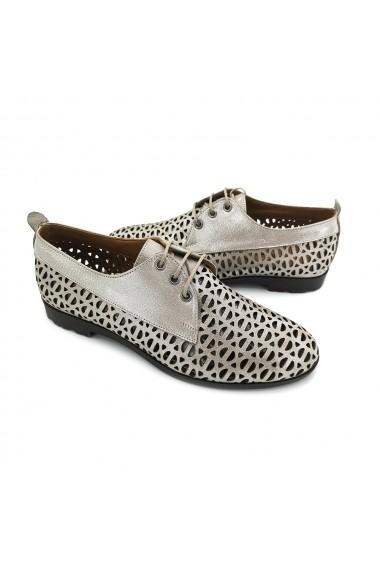 Pantofi piele naturala Torino 721 vizon sidef