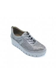 Pantofi piele naturala Torino 9929 argintii