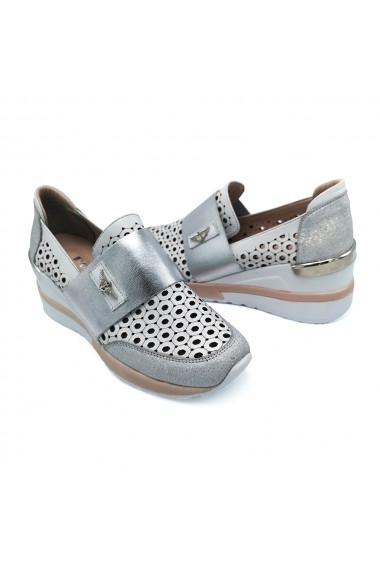 Pantofi piele naturala Torino 262 albi