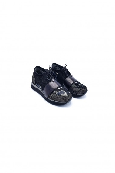 Pantofi piele naturala Torino 3010 argintii