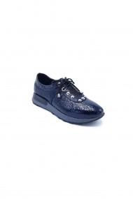 Pantofi piele naturala Torino 332 bleumarin