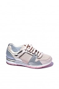 Pantofi piele naturala Torino 456 roz pudra sidef