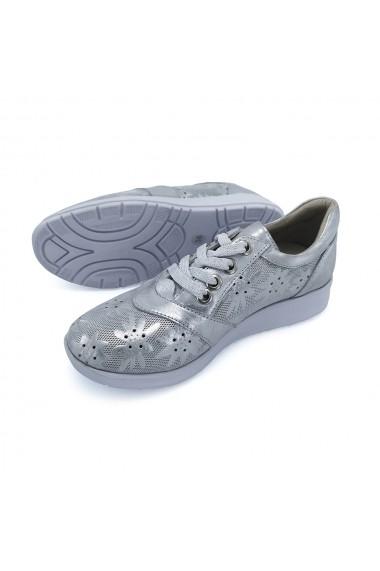 Pantofi piele naturala Torino 9916 argintiu 37 Argintiu