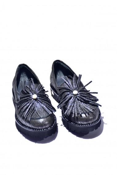 Pantofi piele naturala Torino 997 negri