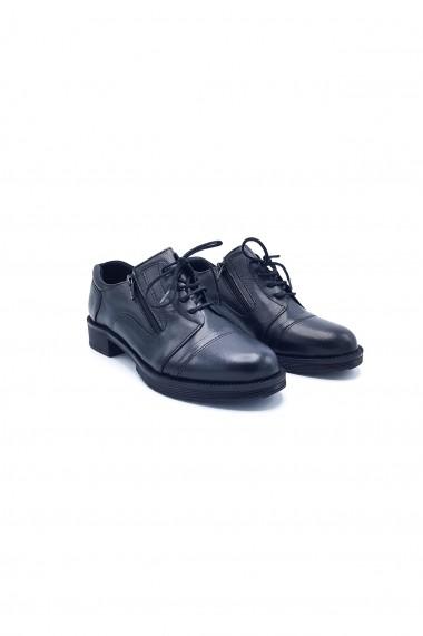 Pantofi piele naturala Torino 57 negri