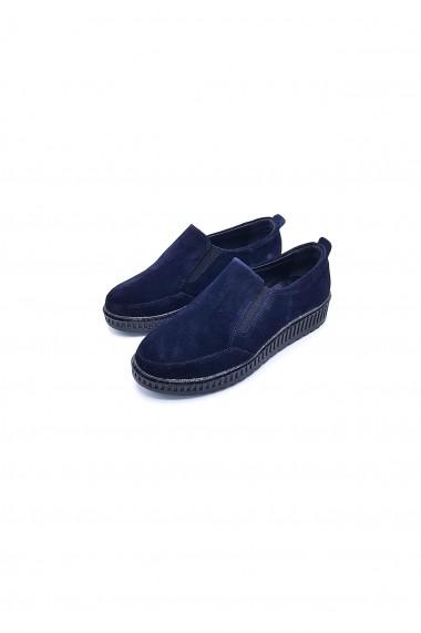 Pantofi piele naturala Torino 338 bleumarin