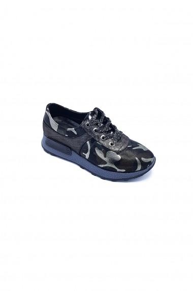 Pantofi piele naturala Torino 335 Print