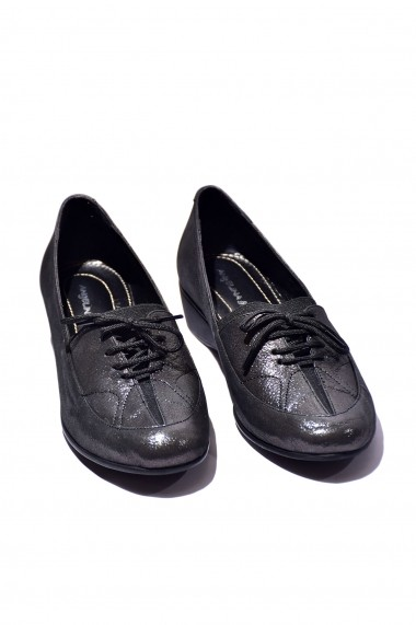Pantofi piele naturala Torino 1140 negru lucios