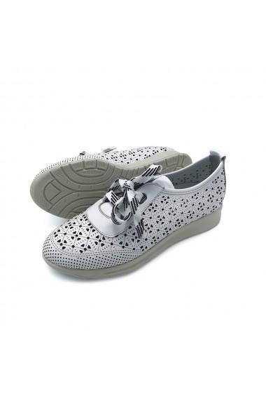 Pantofi piele naturala Torino 5500 alb