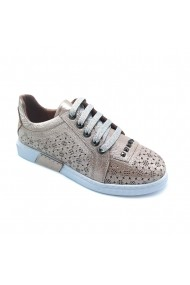Pantofi piele naturala Torino 412 roz sidef