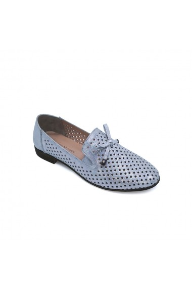Pantofi piele naturala Torino 1266 argintii