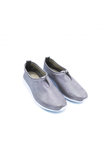 Pantofi piele naturala Torino 2261 Argintiu