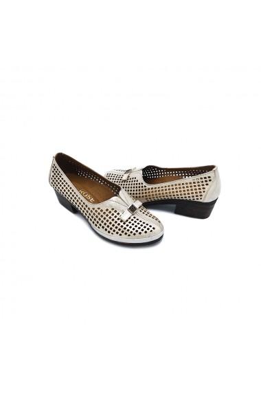 Pantofi piele naturala Torino 0505 Crem
