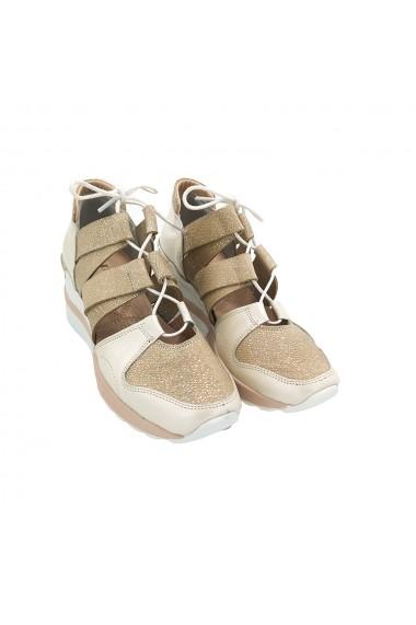 Pantofi piele naturala Torino 262-2 Bej