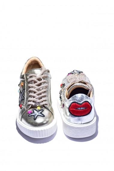 Pantofi piele naturala Torino 1801 aurii