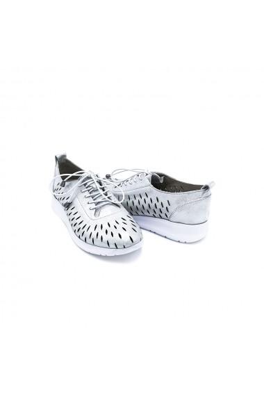 Pantofi piele naturala Torino 9912 albi sidef