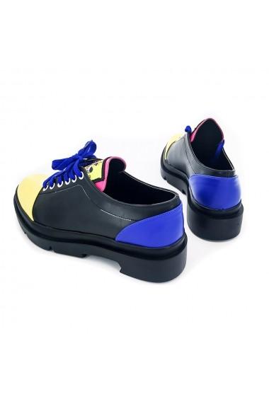Pantofi piele ecologica Torino K002 Multicolori