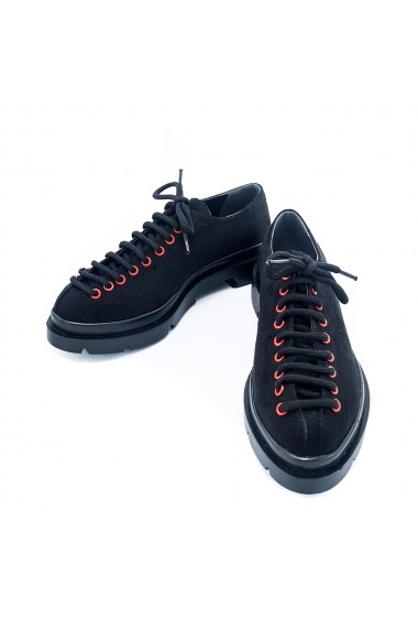 Pantofi piele ecologica Torino K001 Negri