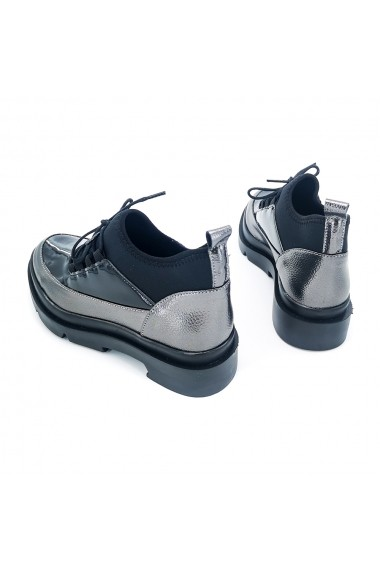 Pantofi piele ecologica Torino K030 Negri