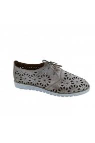 Pantofi piele naturala Torino 4011 Roz sidef