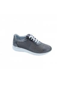 Pantofi piele naturala Torino 1015 Argintii