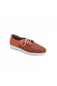 Pantofi piele naturala Torino 932-016 Portocaliu
