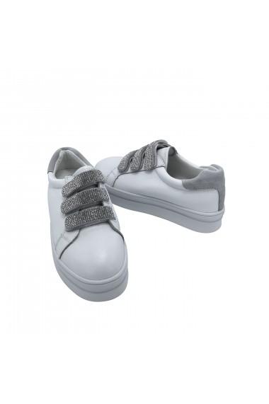 Pantofi sport din piele naturala Torino 3-K Albi