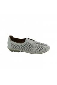 Pantofi sport casual din piele Torino 803-109 Crem