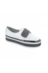 Pantofi casual din piele Torino X-66-20 Albi