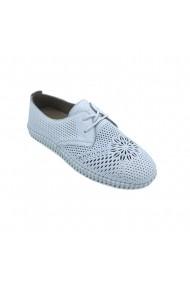 Pantofi din piele Torino 09-004 Albi